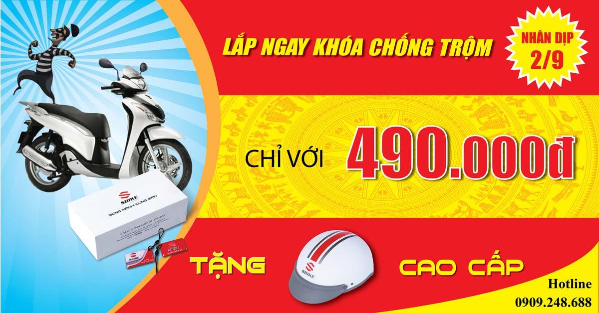 Khoa chong trom xe may gia re Sbike chat luong nhan dip 29
