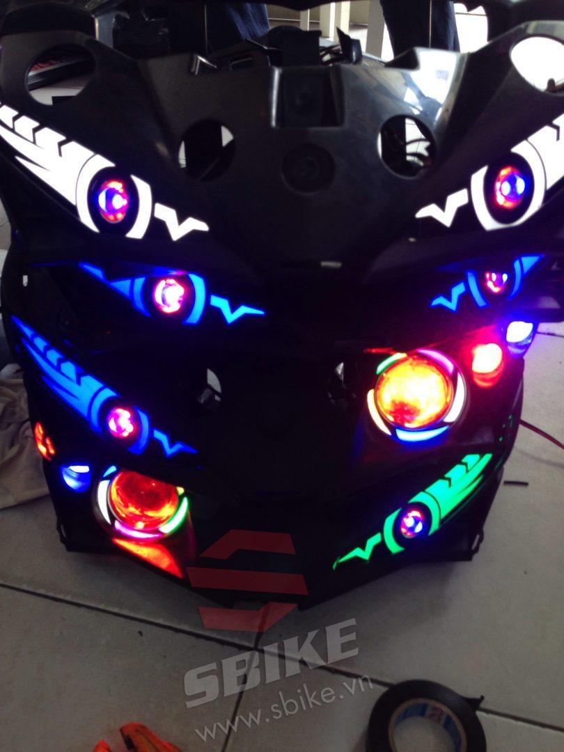 Full nhiều loại đèn LED độ: mắt cú, mắt lé, LED Audi