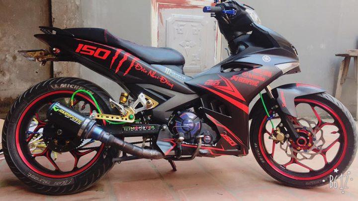 Exciter 150 do nhe voi doi chan day co bap cua biker Bac Giang - 3